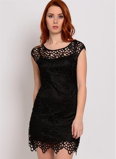 Zibi London Elbise Siyah
